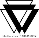 linked triangles. abstract... | Shutterstock .eps vector #1400457335