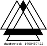 linked triangles. abstract... | Shutterstock .eps vector #1400457422