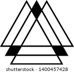 linked triangles. abstract... | Shutterstock .eps vector #1400457428