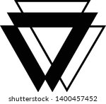 linked triangles. abstract... | Shutterstock .eps vector #1400457452