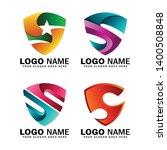 initial letter s shield logo... | Shutterstock .eps vector #1400508848
