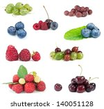 assorted berries on white... | Shutterstock . vector #140051128