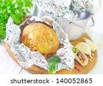 baked potato in the foil