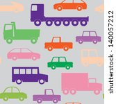 seamless pattern with cars and...   Shutterstock . vector #140057212