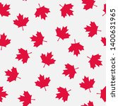 Red Maple Leaves Seamless...