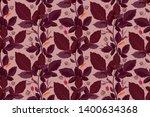 art floral vector seamless...   Shutterstock .eps vector #1400634368
