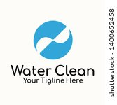 water clean logo template is...   Shutterstock . vector #1400652458