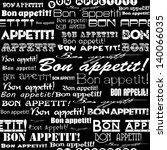 "seamless ""bon appetit "" pattern. | Shutterstock . vector #140066035"