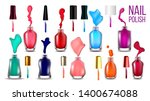 collection bottles with nail... | Shutterstock .eps vector #1400674088
