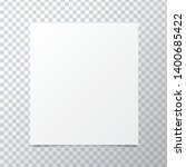 vector a4 paper with shadows on ... | Shutterstock .eps vector #1400685422