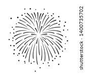 hand drawn black fireworks... | Shutterstock .eps vector #1400735702