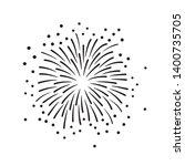 hand drawn black fireworks... | Shutterstock .eps vector #1400735705