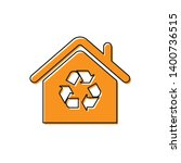 orange eco house with recycling ... | Shutterstock .eps vector #1400736515
