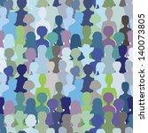 crowd. seamless pattern  blue...   Shutterstock . vector #140073805
