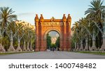the arc de triomf is a... | Shutterstock . vector #1400748482