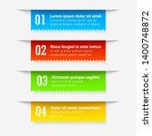 gradient infographics banners.... | Shutterstock .eps vector #1400748872