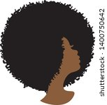 beautiful african american... | Shutterstock .eps vector #1400750642