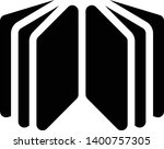 open book  booklet  copybook... | Shutterstock .eps vector #1400757305
