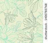 floral seamless pattern. plant... | Shutterstock .eps vector #1400783768