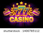 casino banner with 777 and...