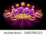 casino banner with playing...
