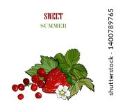 strawberry vector drawing.... | Shutterstock .eps vector #1400789765