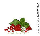 strawberry vector drawing.... | Shutterstock .eps vector #1400789768