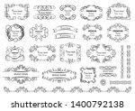 calligraphic design elements .... | Shutterstock .eps vector #1400792138