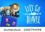 3d realistic travel banner... | Shutterstock .eps vector #1400794598