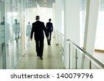 businessmen going along... | Shutterstock . vector #140079796