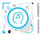 music head icon on modern... | Shutterstock .eps vector #1400802872