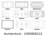 creative illustration of sport... | Shutterstock . vector #1400808122