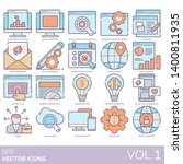 seo icons including keyword ... | Shutterstock .eps vector #1400811935