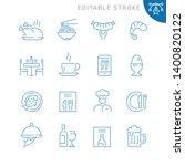 restaurant related icons.... | Shutterstock .eps vector #1400820122