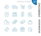 shopping related icons.... | Shutterstock .eps vector #1400832362