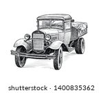 Sketch Of An Old Truck Of Times ...