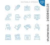 mass media related icons.... | Shutterstock .eps vector #1400840135