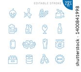 beer related icons. editable... | Shutterstock .eps vector #1400841998