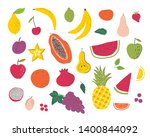 fruits hand draw illustration... | Shutterstock .eps vector #1400844092