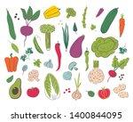 vegetables hand draw... | Shutterstock .eps vector #1400844095