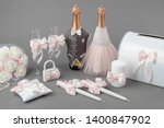 wedding accessories  decorated... | Shutterstock . vector #1400847902