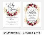 wedding invitation set marsala... | Shutterstock .eps vector #1400851745