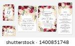 wedding invitation set marsala... | Shutterstock .eps vector #1400851748