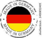 made in germany flag grunge icon | Shutterstock .eps vector #1400852405