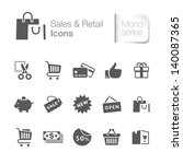 sales   retail related icons | Shutterstock .eps vector #140087365