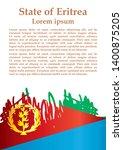 flag of eritrea  state of... | Shutterstock .eps vector #1400875205