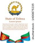 flag of eritrea  state of... | Shutterstock .eps vector #1400875235
