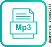 mp3 file document icon in... | Shutterstock . vector #1400882558