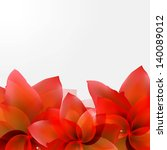 borders of abstract red tulips... | Shutterstock .eps vector #140089012