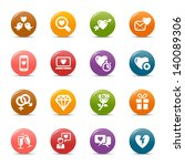 rainbow   love and dating icons ...   Shutterstock .eps vector #140089306